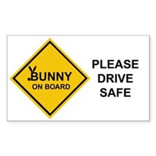 bunny on board Rectangle Decal