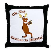 Donner is Blitzen Throw Pillow