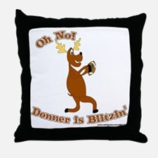 Donner is Blitzen Throw Pillow