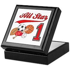 All-Star Sports First Birthday Keepsake Box