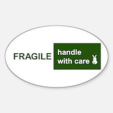 fragile Oval Decal