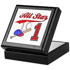 AllStar Baseball First Birthday Keepsake Box