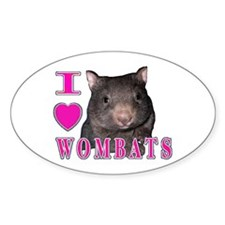 2 Wombats Oval Decal