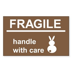 fragile Rectangle Decal