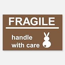 fragile Rectangle Decal
