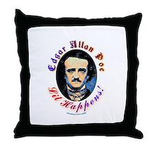 Edgar Allen Poe - Lit Happens Throw Pillow