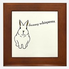 bunny whisperer Framed Tile