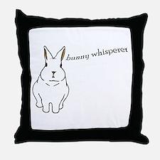 bunny whisperer Throw Pillow