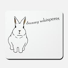 bunny whisperer Mousepad