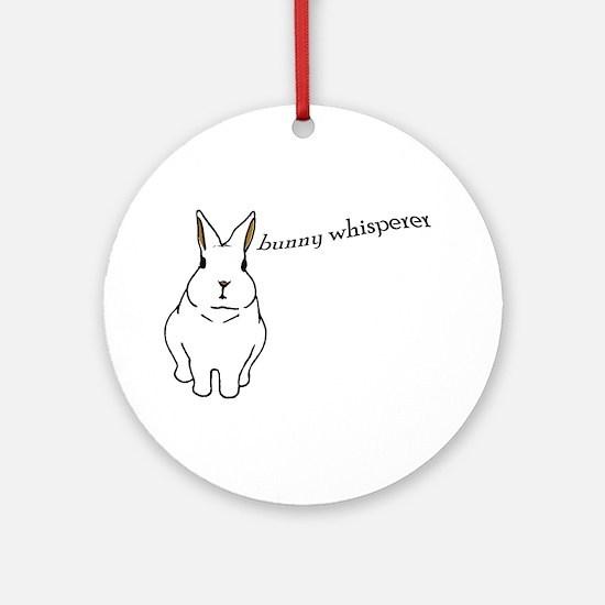 bunny whisperer Ornament (Round)