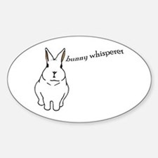bunny whisperer Oval Decal