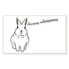 bunny whisperer Rectangle Decal