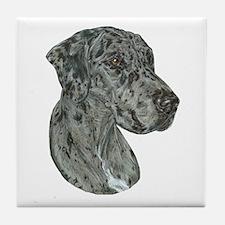 Merle Dog Tile Coaster