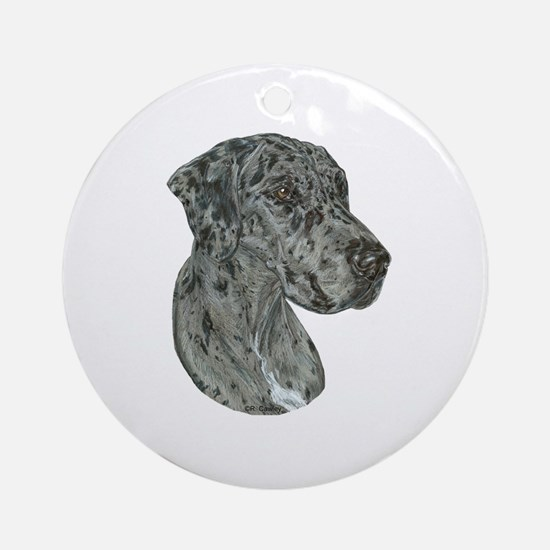 Merle Dog Ornament (Round)