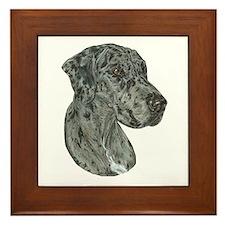 Merle Dog Framed Tile