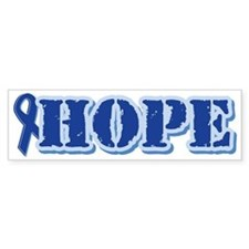 Blue Ribbon Hope Bumper Bumper Sticker