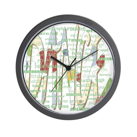 Dance Terms Wall Clock