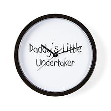 Daddy's Little Undertaker Wall Clock