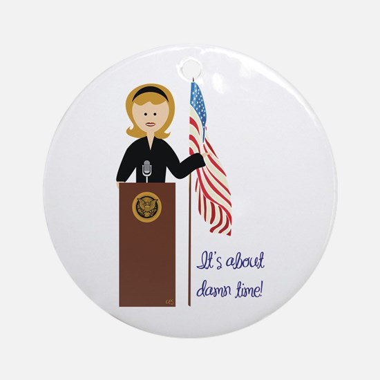 Election Equality! Hillary Ornament (Round)