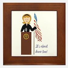 Election Equality! Hillary Framed Tile
