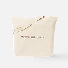 Gaydar Tote Bag