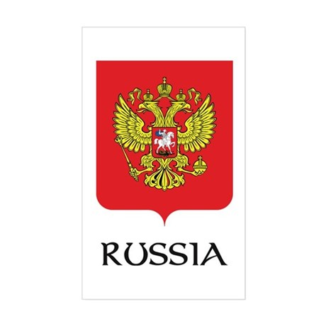 Russia Coat of Arms Rectangle Sticker