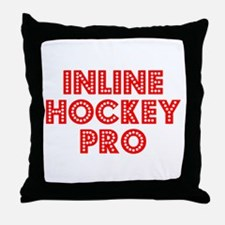 Retro Inline Hock.. (Red) Throw Pillow
