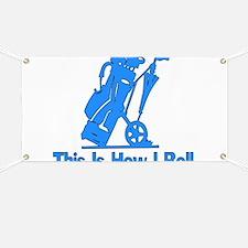 Golfing Dad Banner