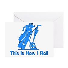 Golfing Dad Greeting Card