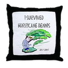Survived Hurricane Dennis Throw Pillow