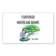 Survived Hurricane Dennis Rectangle Decal