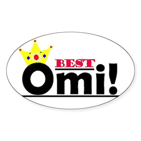Best Omi Oval Sticker (10 pk)