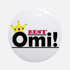 Best Omi Ornament (Round)