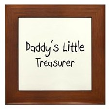 Daddy's Little Treasurer Framed Tile