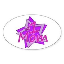 #1 Mom Oval Decal