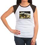 Red Stream Women's Cap Sleeve T-Shirt