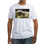 Red Stream Fitted T-Shirt