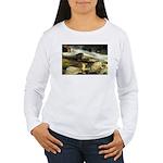 Red Stream Women's Long Sleeve T-Shirt