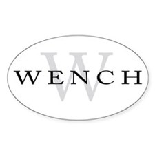 Wench Oval Decal