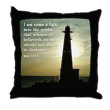 Throw Pillow John 12:46