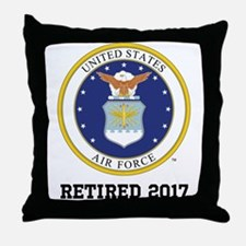 Personalized Air Force Retirement Gift Throw Pillo