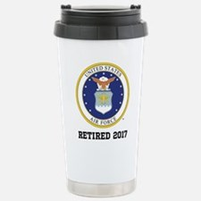 Personalized Air Force Retirement Gift Travel Mug