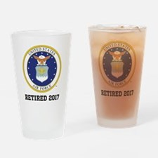 Personalized Air Force Retirement Gift Drinking Gl