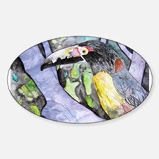 toucan bird tropical fine art Oval Decal