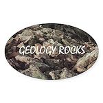 Geology Rocks Oval Sticker