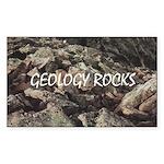 Geology Rocks Rectangle Sticker