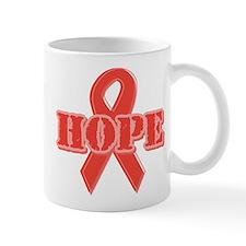 Red Hope Ribbon Mug