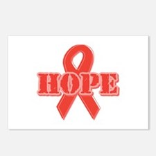 Red Hope Ribbon Postcards (Package of 8)