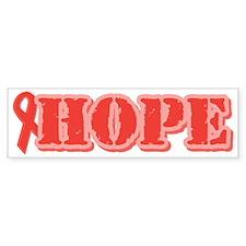 Red Hope Ribbon Bumper Bumper Sticker
