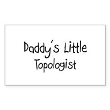 Daddy's Little Topologist Rectangle Decal